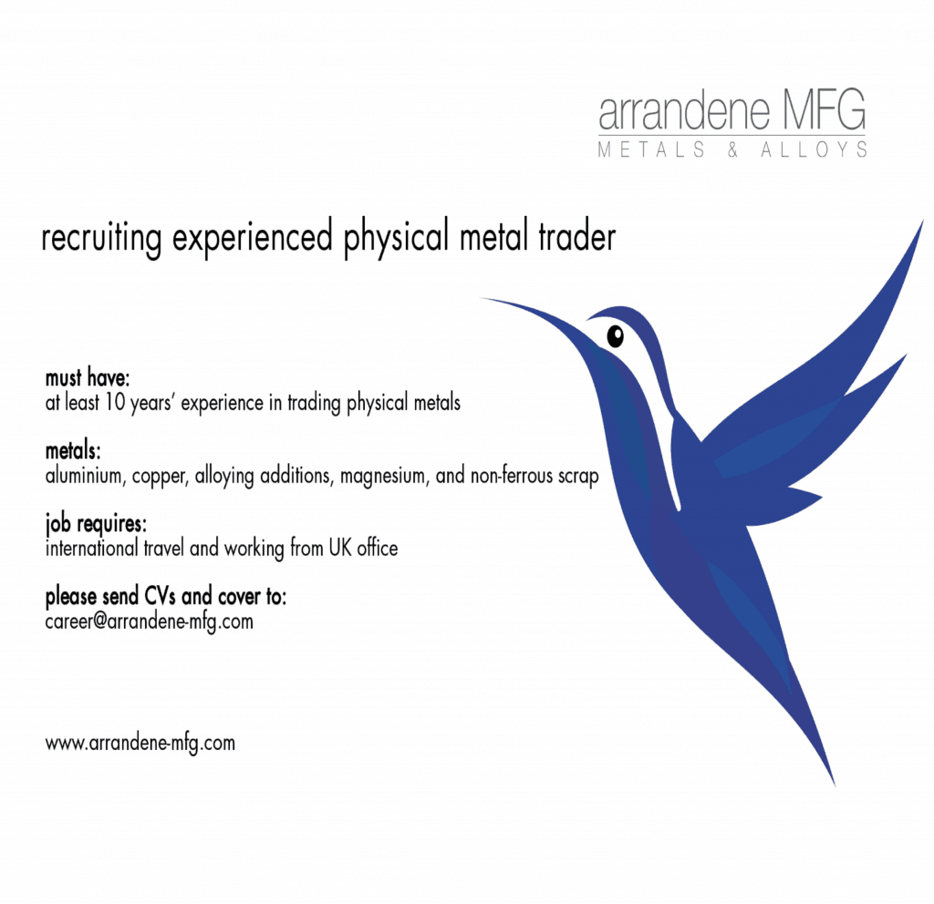 Arrandene MFG Recruiting Metal Trader - MMTA